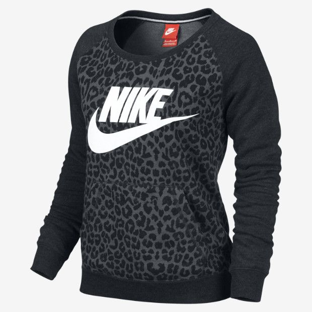 Leopard ♥ Nike Rally Women's Sweatshirt. Gotta look cute when you work out ;)