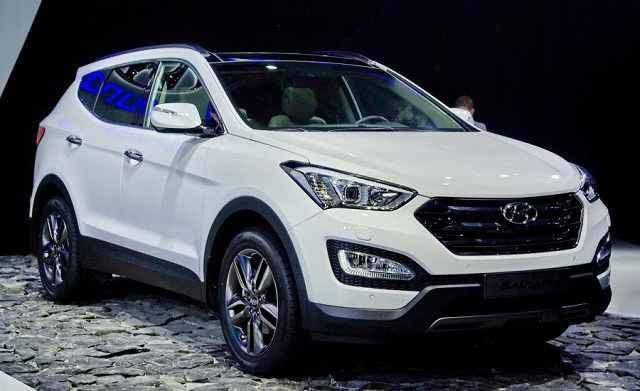 2016 Hyundai Santa Fe White