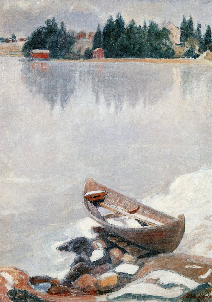 Pekka Halonen, Tuusulanjärvi Jäätyy, 1914, The Life and Art of Pekka Halonen - from http://www.alternativefinland.com/art-pekka-halonen/