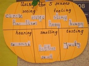 5 senses and pumpkins