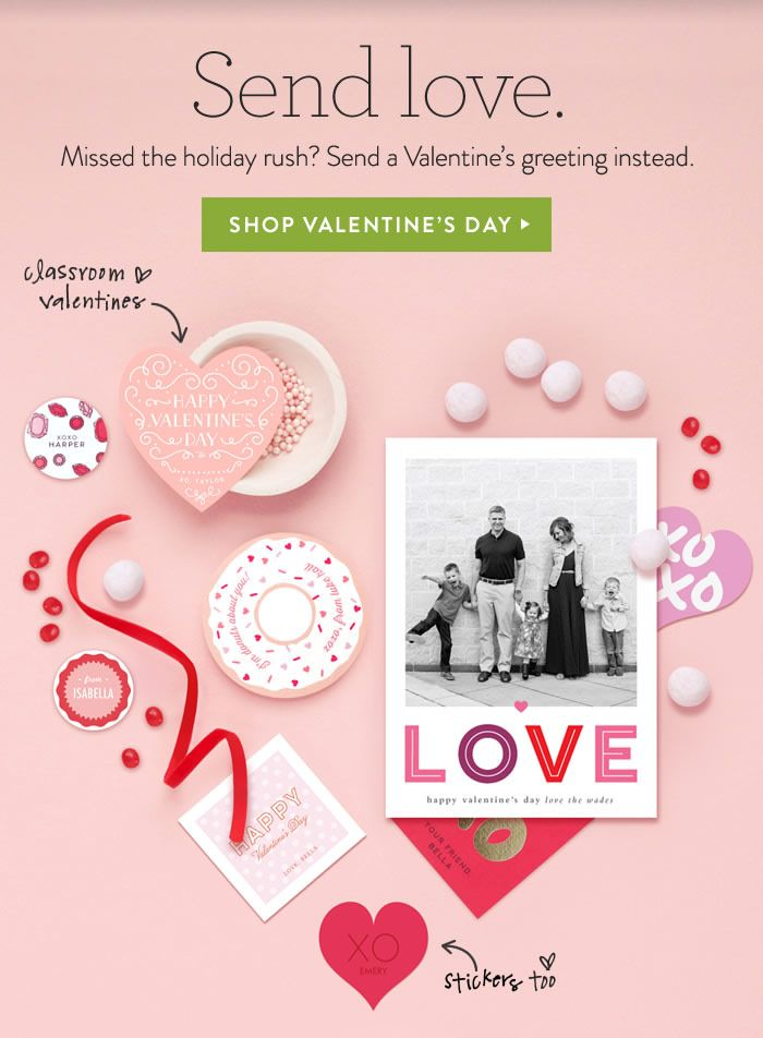 Shop Valentine's Day email
