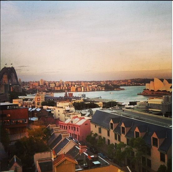 Sydney, Australia. Taken from my room view at the Shangri-La Hotel.