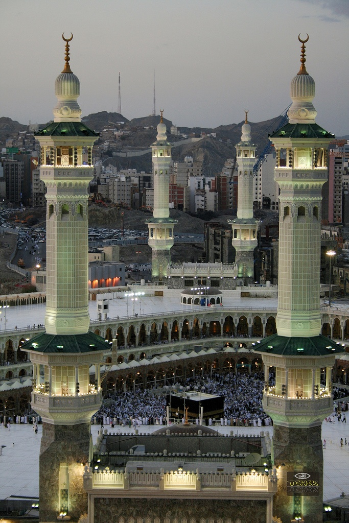 Masjid al-Haram, Saudi Arabia      Also known as The Sacred Mosque, Masjid al-Haram is the largest mosque on earth.  Expanding over an area in excess of 4,000,000 square metres within the city of Mecca, Masjid al-Haram was built in 638 AD and has the capacity to be able to accommodate up to 4,000,000 people.