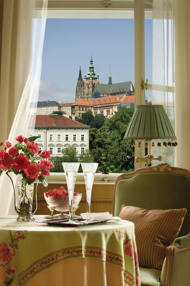 Four Seasons Prague, view of Prague Castle, Czech Republic #hotelinteriordesigns