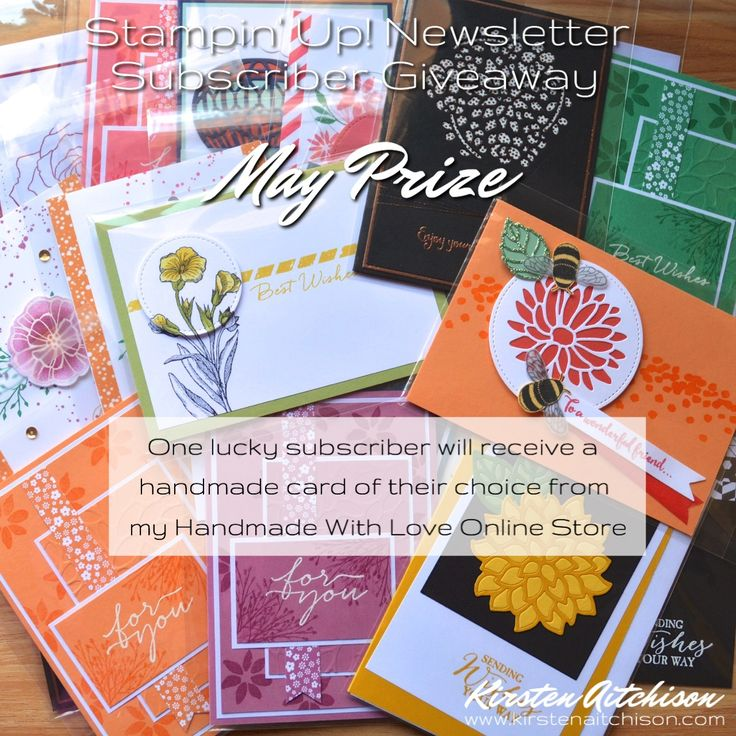 Kirsten Aitchison | Australian Stampin' Up! Newsletter Subscriber Giveaway - May 17 Prize | Click to find out more | #kirstenaitchison #subscribergiveaway #crazycrafters #stampinup