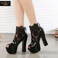 Европа стиль новое поступление бренд летом стиль пальца ноги щели высокие каблуки женщины туфли на высоком каблуке ночной клуб ну вечеринку обувь белый и черный размер 35-39