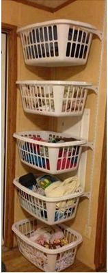 This's a great Idea for organizing your laundry area... keep the space clean and clear of clutter!!