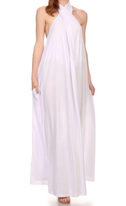 dress- cross front maxi dress