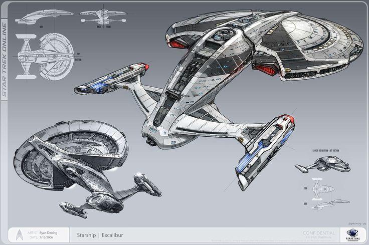 ArtStation - Excalibur Class Starship, Ryan Dening