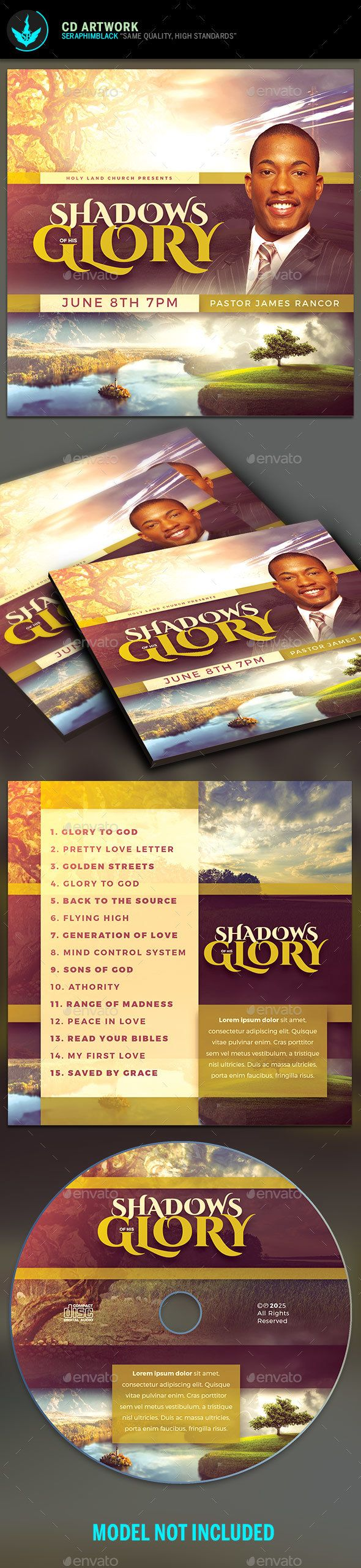 Shadows of His Glory CD Artwork Template - #CD & DVD #Artwork Print #Templates Download here: https://graphicriver.net/item/shadows-of-his-glory-cd-artwork-template/20307383?ref=alena994