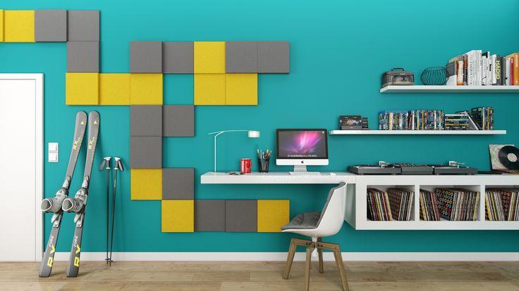 Miękkie panele ścienne 3D Fluffo, Fabryka Miękkich Ścian. Kolekcja Fluffo FOUR. www.fluffo.pl
