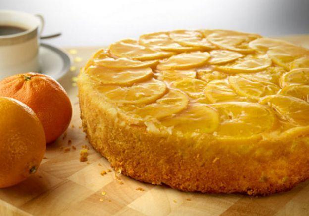 Torta rovesciata all'arancia caramellata (Upside-down cake with orange caramel)
