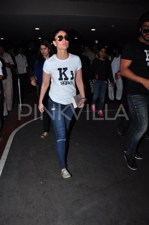 Arjun-Kareena Unleash Ki and Ka Mania as they Return From Ahmedabad | PINKVILLA