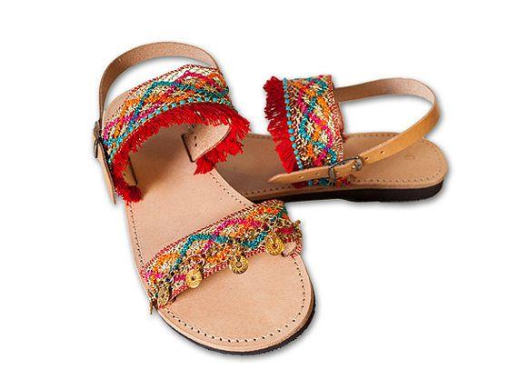 Boho Sandals, Gold Greek Sandals, Hippie Sandals, Women Leather Sandals, Gypsy shoes, women shoes MYKONOS