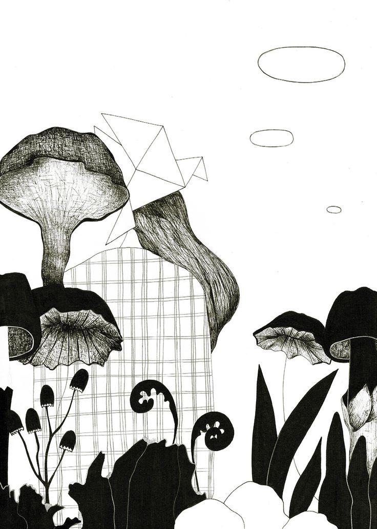Ink on paper. Illustrations.  http://www.iwonaszczepanik.com/