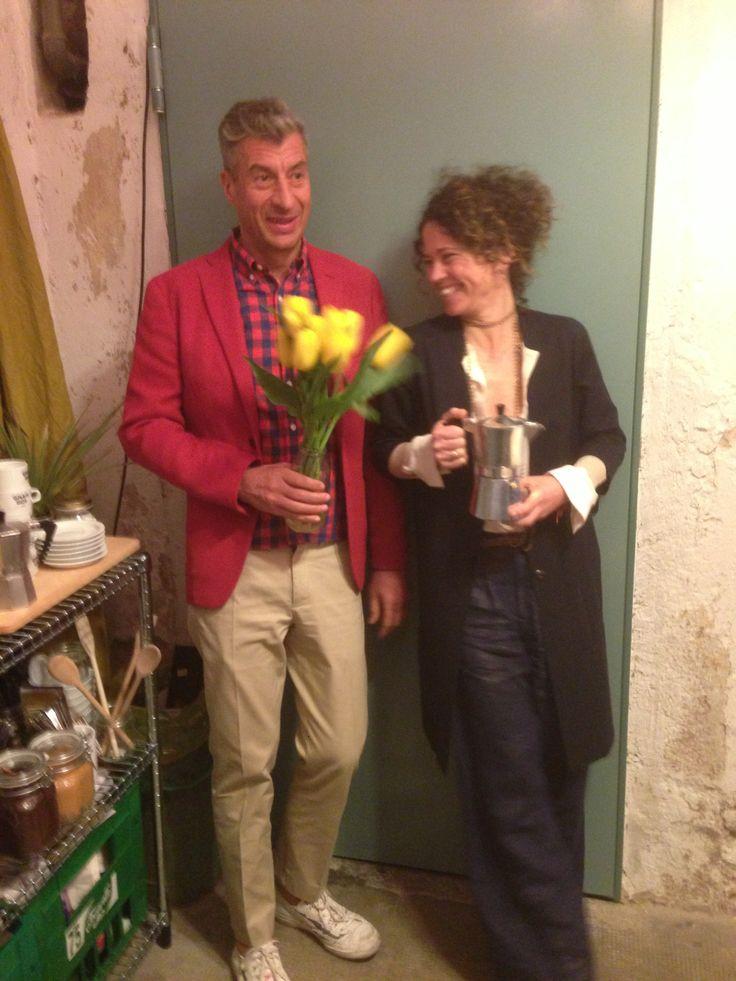 Day 5 - Maurizio Cattelan & Viola Pisenti        @Gina Marie BOX CAFE #salonedelmobile2014 #fuorisalone2014 #gnambox #5vie