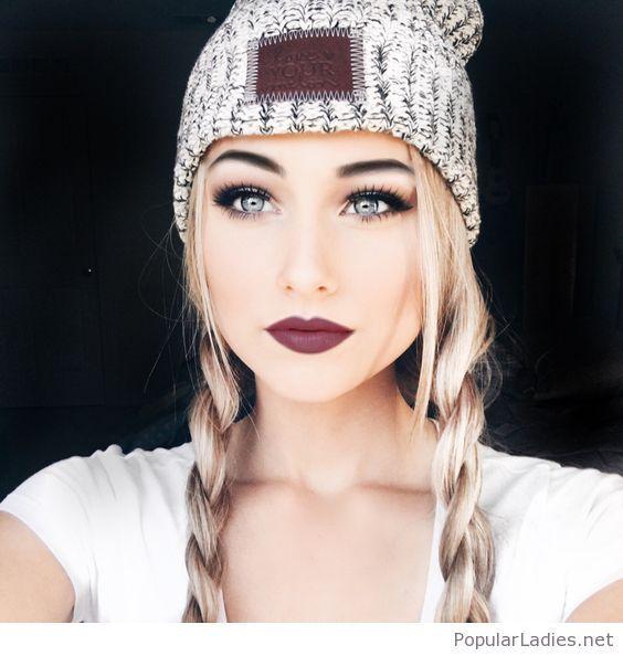Wunderschönes Make-Up für Menschen mit hellerem Hautton.