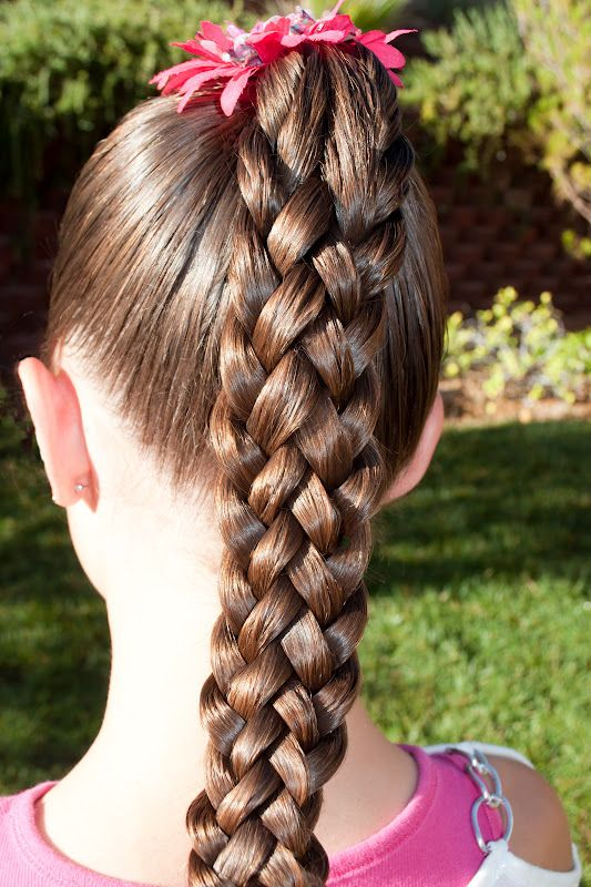 Princess Piggies: 7 strand sennit braid