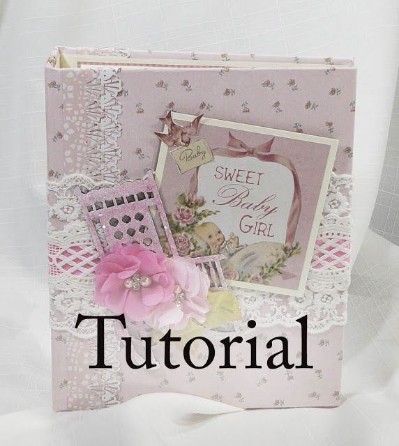 Terry's Scrapbooks: Baby Girl KaiserCraft Peek A Boo Scrapbook Mini Album Tutorial
