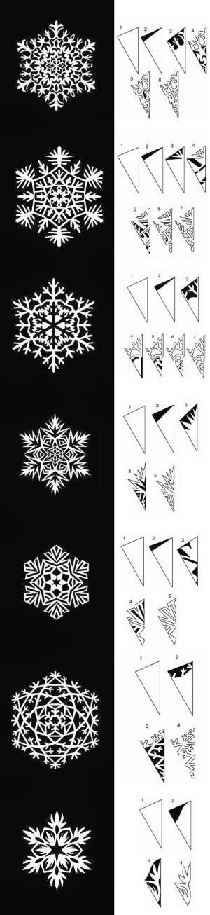 DIY : Paper Snowflakes Templates | DIY & Crafts Tutorials @Charlotte Willner Swanson SNOWFLAKES!!!!!!!! by brendaq