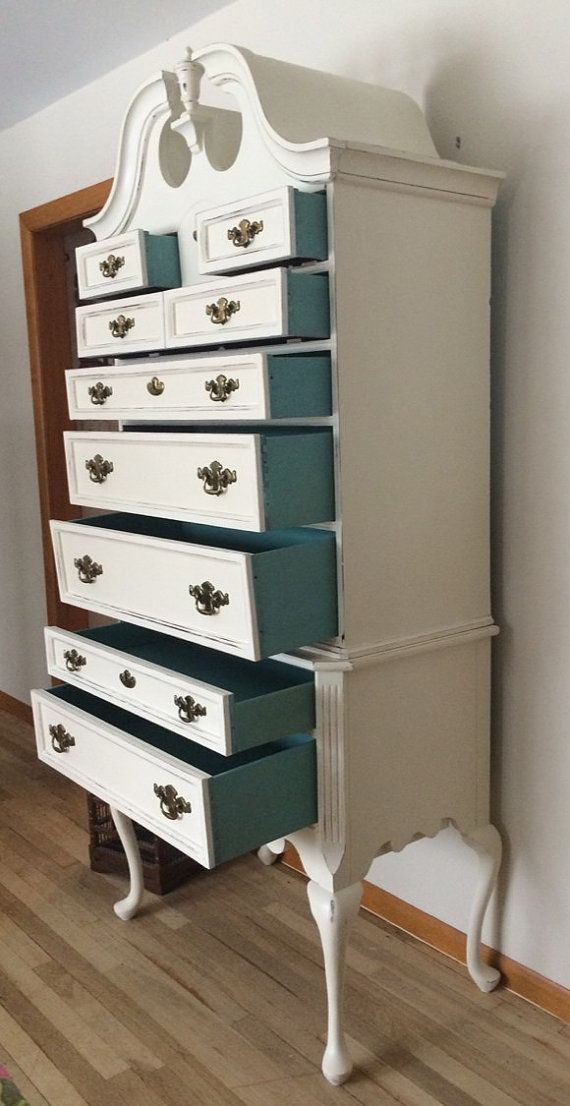Queen Anne Highboy Dresser,  Can be placed in any room of the house: bedroom, family room, hallway, foyer, office, kids room, etc. This dresser is