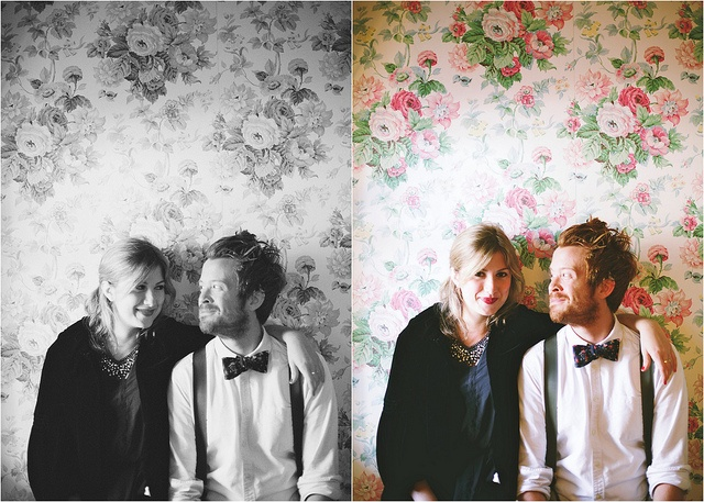 love the wallpaper background. photography by Olivia Rae James.