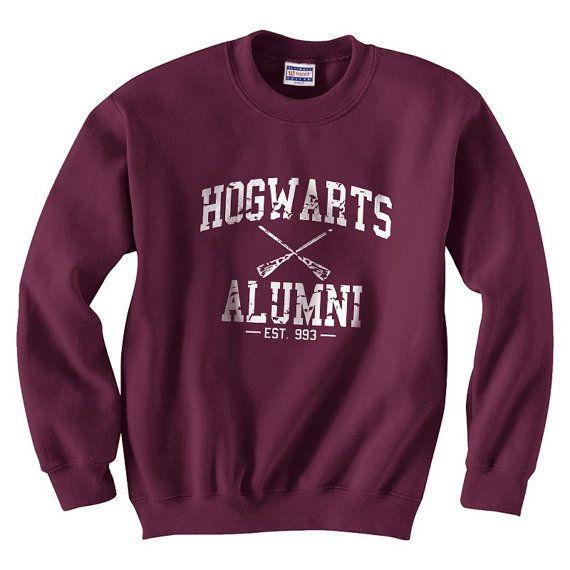Harry Potter Hogwarts Alumni est 993 Size SMLXLXXLXXXL Sweatshirt Unisex Color Maroon