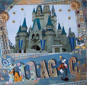 #papercraft #scrapbook #layout Kingdom of Magic