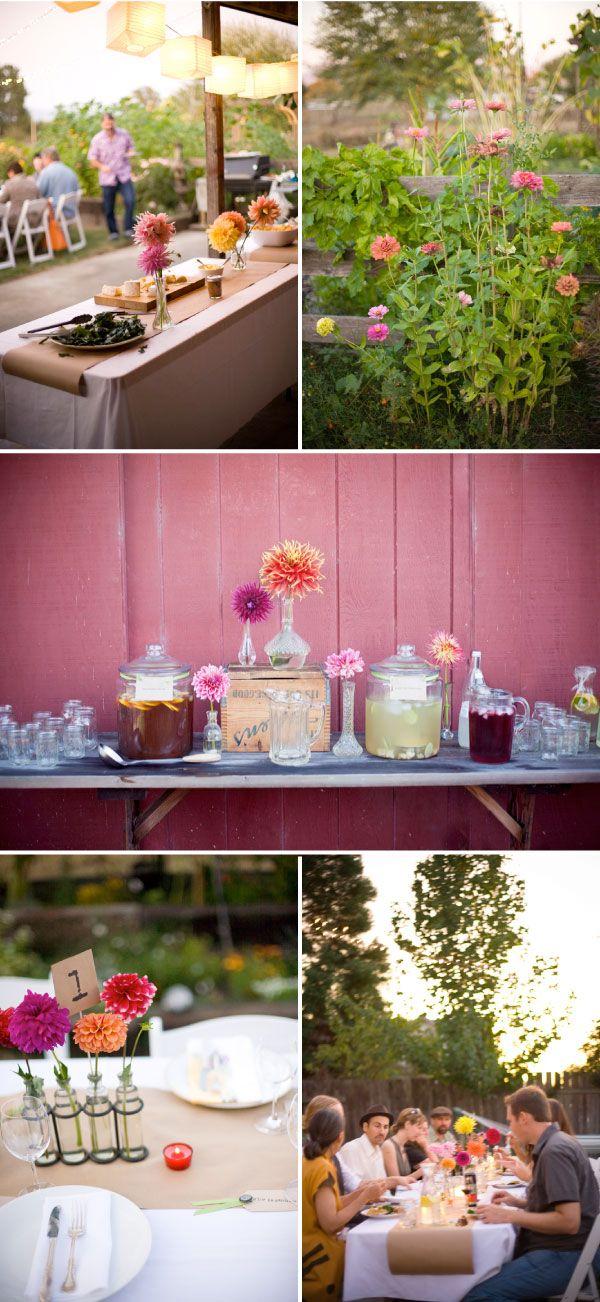 table, flowers, decor