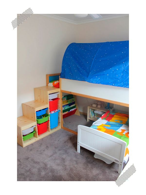 Decoraci n infantil ikea hack de las camas infantiles room kids rooms and ikea hackers - Camas de ikea ...