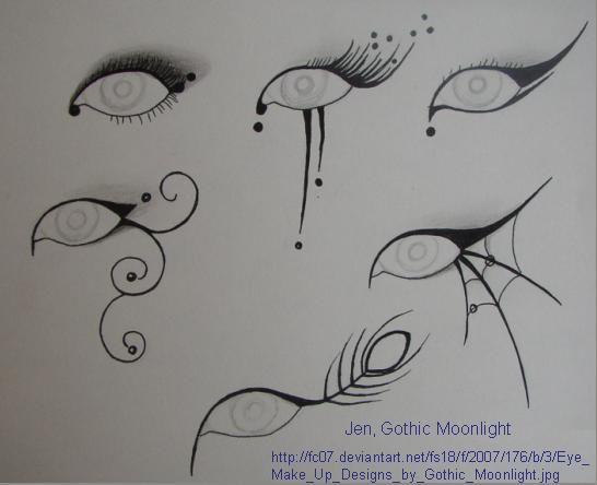 (P) Eye Make-up for Halloween or Carnival by Jen (Gothic Moonlight)