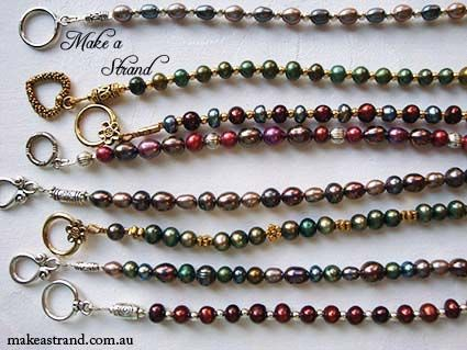 These colourful little freshwater seed pearl bracelets are super cute and super colourful, don't you think? In stock: AU$50 each + postage (some examples shown have sold)
