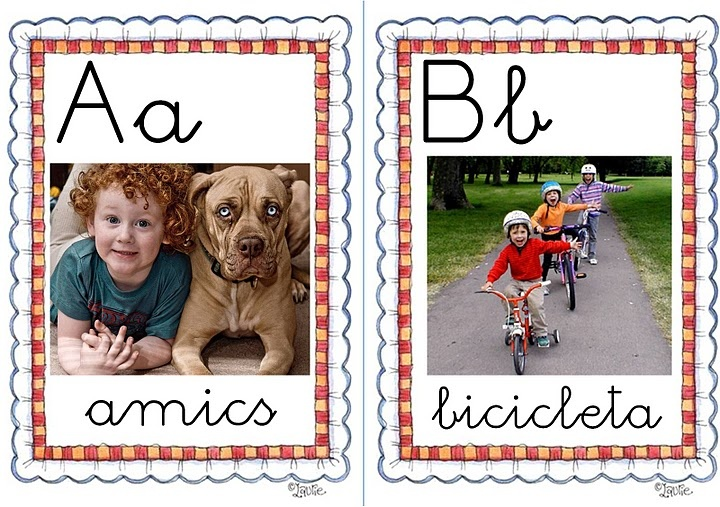 ABC with kids photos on them great idea¡