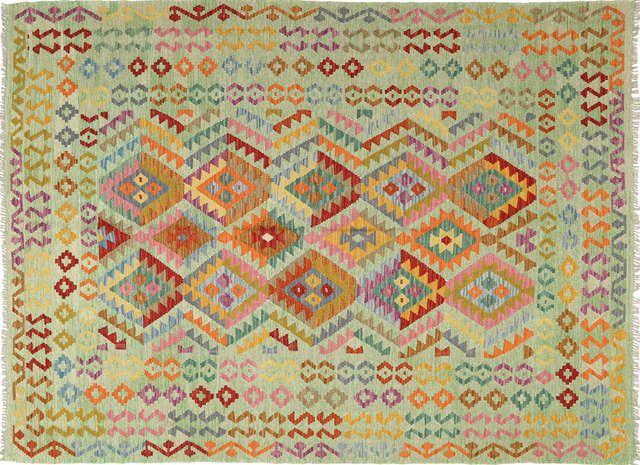Kelim Afghan Old style teppe ABCT366