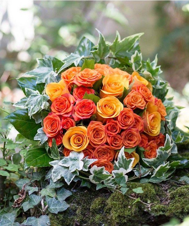 Bouquet de roses oranges caprice de fleurs bouquets de for Livraison bouquet de fleurs kenitra
