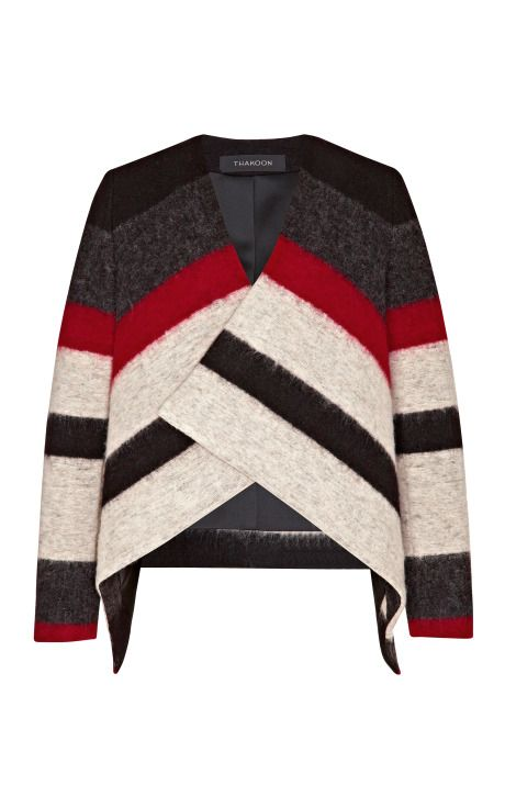 Fashion Month Must: Draped Stripe Knit Jacket by Thakoon Now Available on Moda Operandi