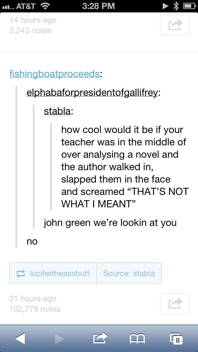 Oh, John Green.