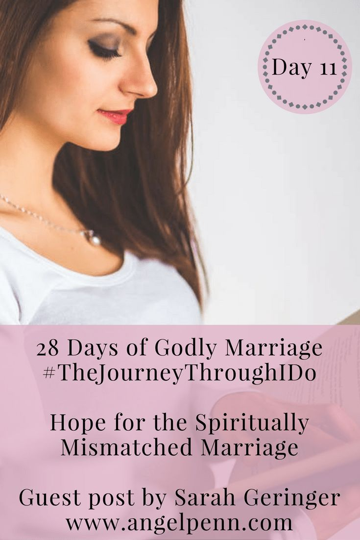 If you are in a spiritually mismatched marriage, God has not forgotten you. You can find fresh hope in him, just like Sarah Geringer of sarahgeringer.com has found in her marriage.