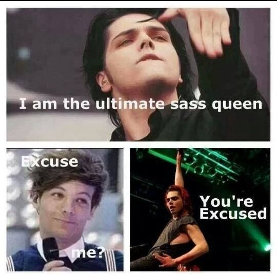 Gerard Way is 1000000000000000000000000000 times more sassy than Louis, BUUUUUUUUUUUUUUUUUUUUUUUUUUURN