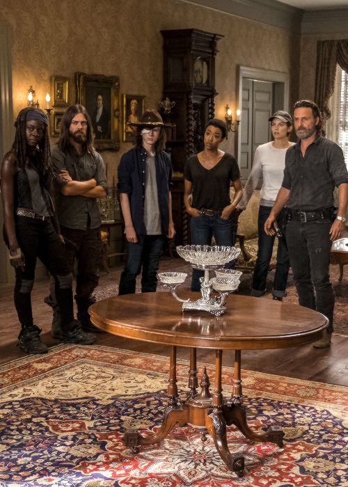 The Walking Dead — Rick, Michonne, Jesus, Maggie, Sasha and Carl in...