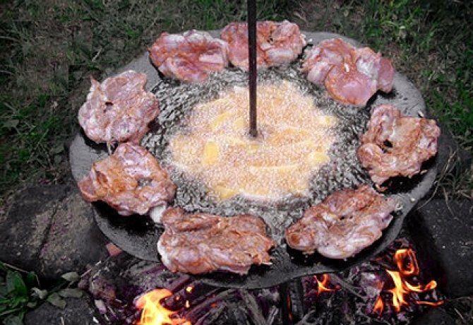 Pácolt tárcsás hús