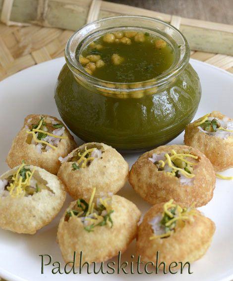 Pani Puri Recipe-How to make Pani Poori-Golgappas-Chaat Recipes