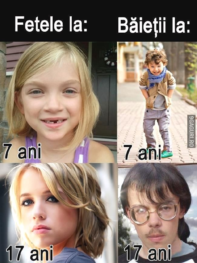 Diferențele de vârstă!   http://9gaguri.ro/media/diferentele-de-varsta