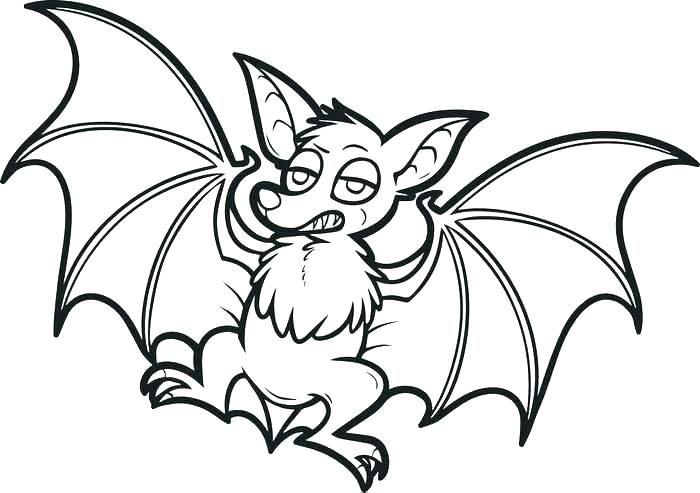 Bat Coloring Pages For Your Kids Dengan Gambar