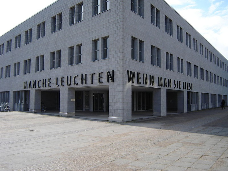 The main library at CAU Kiel, Germany and its beautiful words