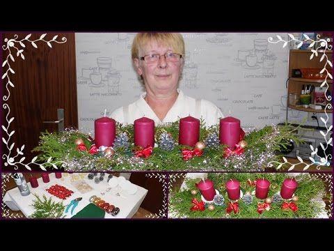DIY Adventsgesteck/Adventskranz/Weihnachtsdeko/Selber Basteln mit Mama