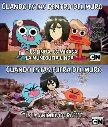 Es la aniquiladora!!! De venta en Mikasa :v