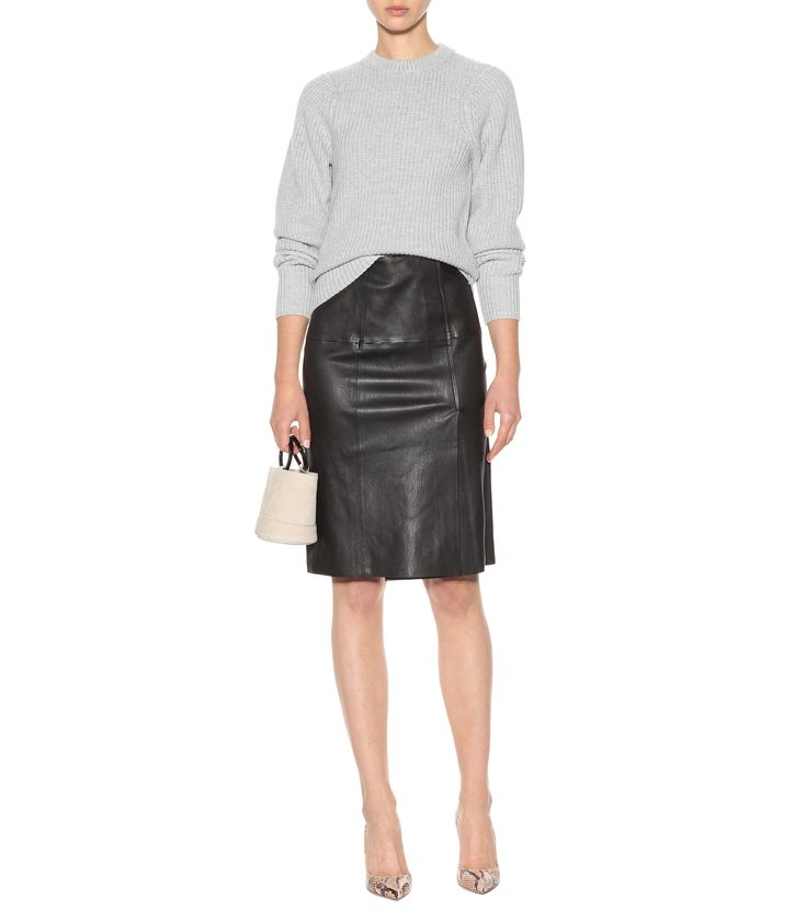 JOSEPH Evie leather skirt