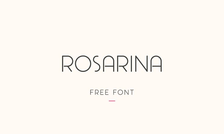 Fresh Free Font Of The Day : Rosarina