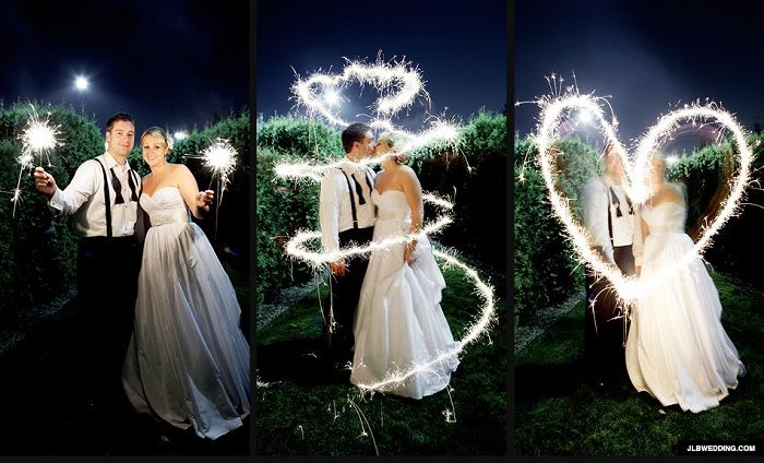 wedding light painting